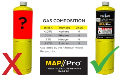 Bernzomatic Map Pro Are you being fooled? Save time, Gas & Money | Official